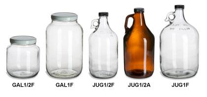 Jugs, Growlers & Gallon Jars