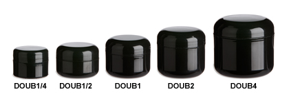 Black Double Wall Plastic Jars