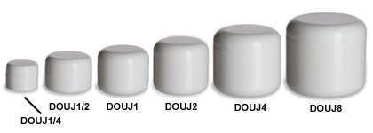 White Double Wall Plastic Jars