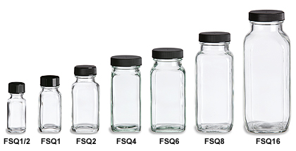 Gourmet Food Square Glass Bottles Specialty Bottle