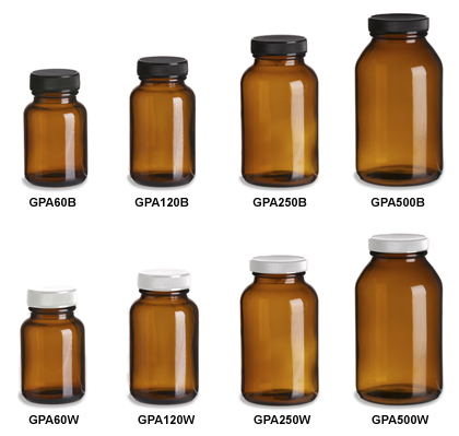 Amber Vitamin Bottles (Packers)