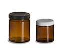 Amber Glass Cosmetic Jars