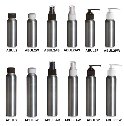 Aluminum Slimline Bottles