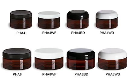 Amber PET Round Heavy Wall Jars