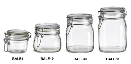 Glass Swing Top Bale Jars