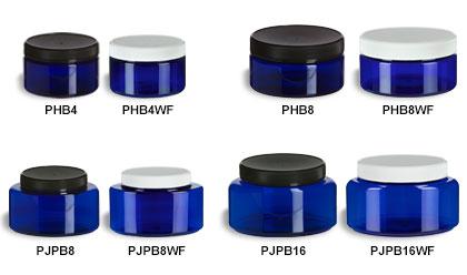 Blue Oval & Round Jars