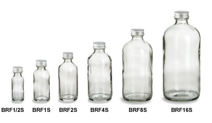 Clear Round Glass Bottles Wholesale Pricing Specialty