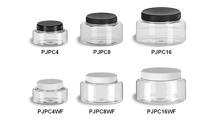 Clear Oval Jars with Flat Lids