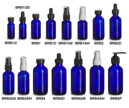 Cobalt Blue Glass Bottles
