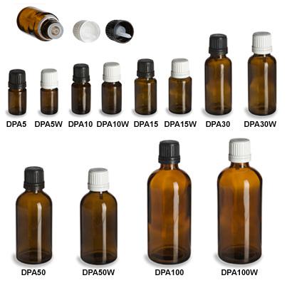 Amber European Dropper Bottles