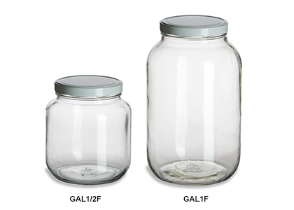 Gallon & Half Gallon Wide Mouth Jars