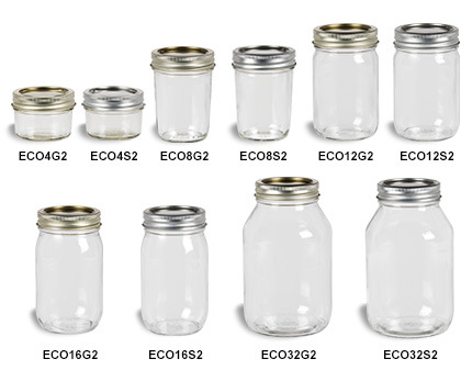 Mason Jars (Canning Jars) with Two-Piece Lids