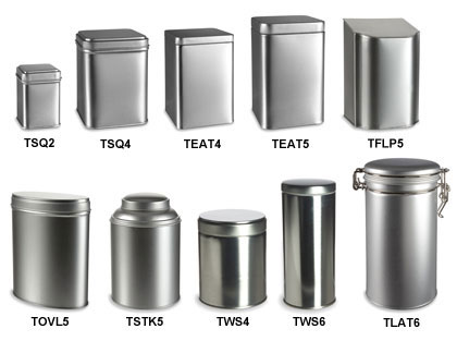 Tea and Storage Tin Containers