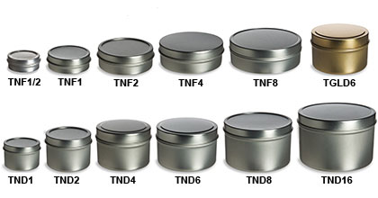 Deep & Flat Tin Containers