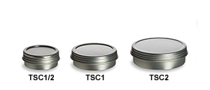 Screw Top Tin Containers